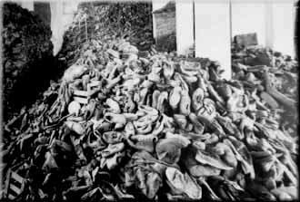 Shoe pile at Auschwitz