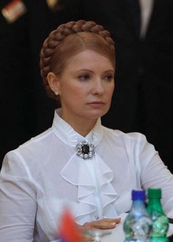 Yulia Tymoshenko during Orange Revolution corruption scandal