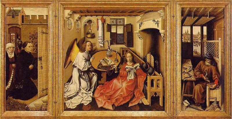 The Merode Altarpice by Robert Campin c1425 – 1428