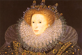 """The Ermine Portrait"" of Queen Elizabeth by Nicholas Hilliard, 1585"