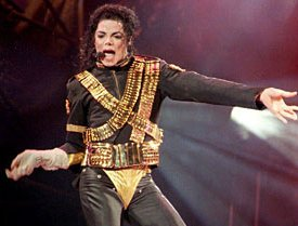 Michael Jackson in ammo military leotard 1993