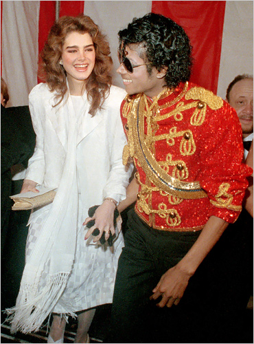 Michael Jackson and Brooke Shields at American Music Awards 1984
