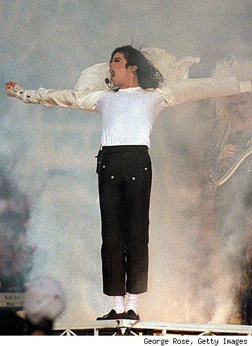 michael jackson cropped black pants and loafers