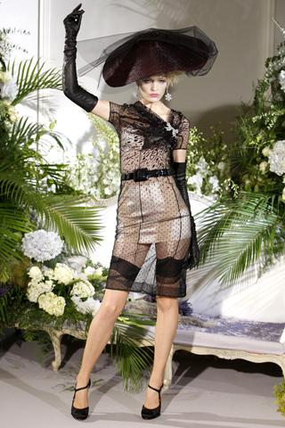 Dior F10 - transparent black dress
