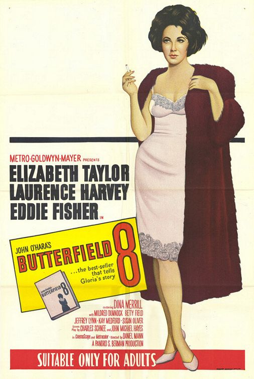 Liz Taylor in BUtterfield 8 poster