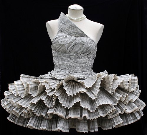 phonebook paper dress by Jolis Paons, 2008