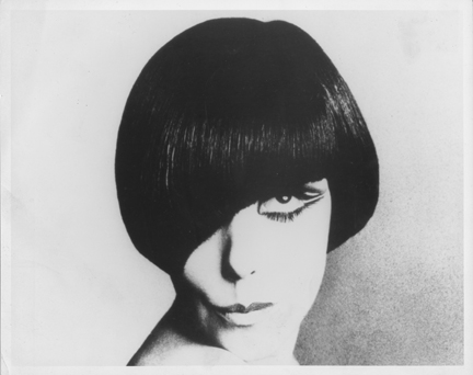 vidal sassoon hairstyles. Peggy Moffitt with Vidal Sassoon haircut, 1960s
