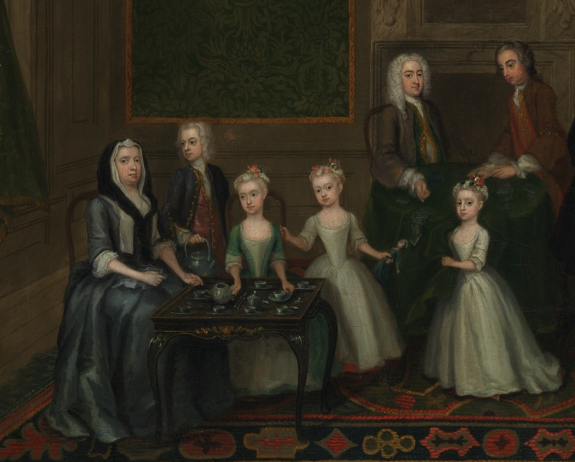 age and gender appropriate fashion th for thought detail of the strong family by charles philips 1732