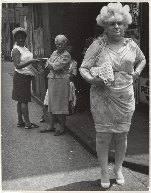 Leon Levinstein Street Scene Woman in Blonde Wig and Tight Dress New York City 1960s ... you may be thinking a lot about how you can manage toa get pregnant as ...